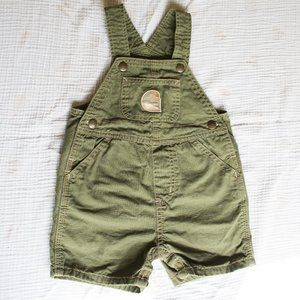 Carhartt Baby Shorts Coveralls Army Green Size 12M